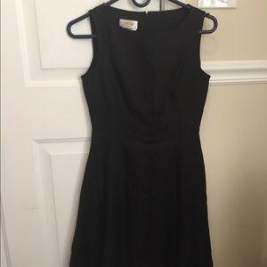 Talbots black dress size 2 Irish linen brand new